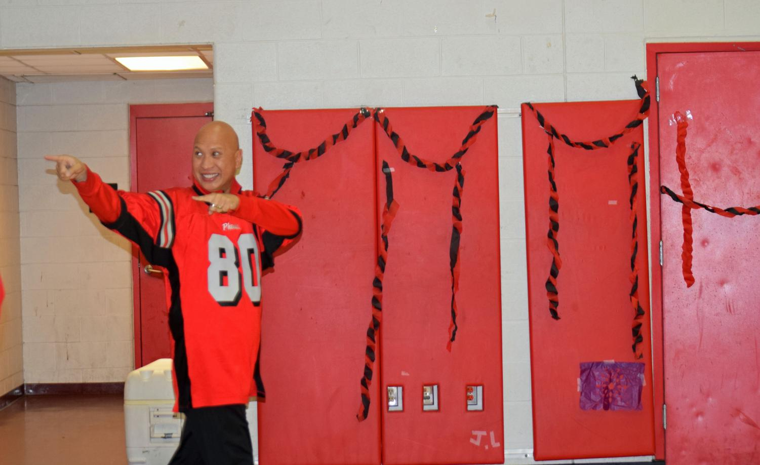 Mr. Wipachit at the 2018 Pep Rally.